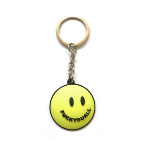 Smile Keychain (Safety Green)