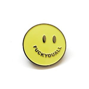 Smile Pin (Safety Green)