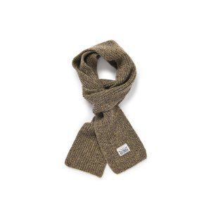 Warm Tone Wool Muffler (Brown)