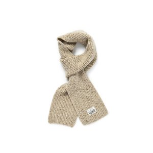 Warm Tone Wool Muffler (Oatmeal)