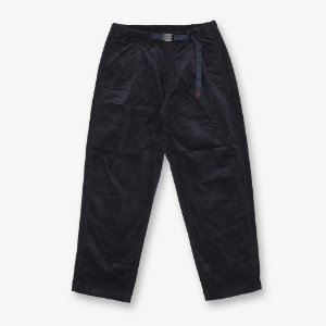 CORDUROY TUCK TAPERED PANTS (DOUBLE NAVY)