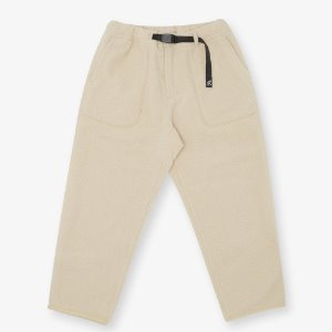 BOA FLEECE LOOSE TAPERED PANTS (IVORY)