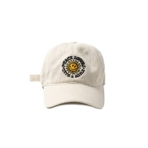 Peace Begins Smile Washed Cap (IVORY)