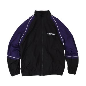 SNDPPR TRACK JACKET (BLACK/PURPLE)