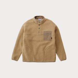 BOA FLEECE PULLOVER SHIRTS (BEIGE)