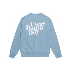 Every Damn Day Crewneck (Sky blue/White)