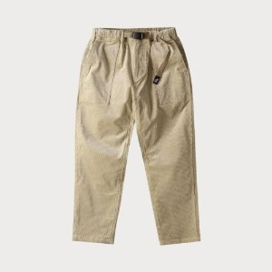 CORDUROY LOOSE TAPERED PANTS (BEIGE)