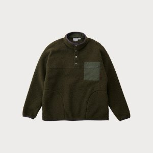 BOA FLEECE PULLOVER SHIRTS (OLIVE)