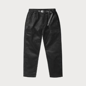CORDUROY LOOSE TAPERED PANTS (BLACK)