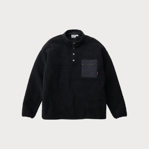 BOA FLEECE PULLOVER SHIRTS (BLACK)
