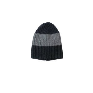 Three Stripe Lambswool Rib Hat (Black Multi)