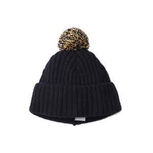 Rib Bobble Hat (NVY)