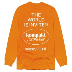 The World Is Invited L/S (Orange/White)